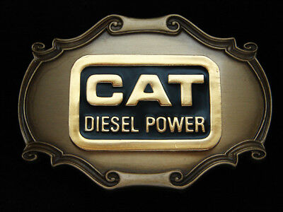 Pl29162 Vintage 1978 **cat Diesel Power** Caterpillar Heavy Machinery Buckle