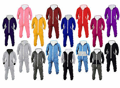 Mens Jumpsuit One Piece Pajamas Non footed Pajama Fleece Jumpsuits