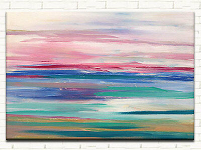 MODERN ABSTRACT HAND PAINTED OIL PAINTING LARGE CANVAS 60 x 90 FRAMED WALL ART