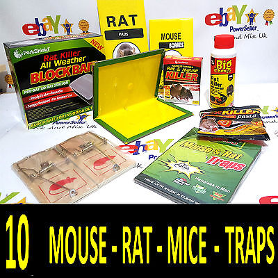 Why Buy Mice Glue Traps,  When You Can Buy 10 SUPER ASSORTED MIXED TRAPS
