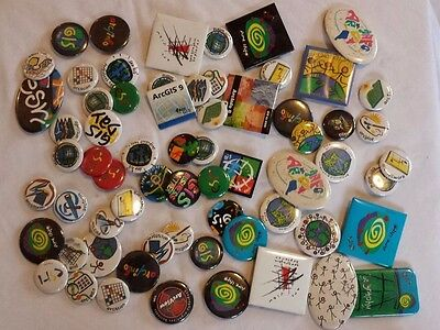 ESRI Memorabilia - collectible buttons, stickers, mouse pads and more! GIS Day!