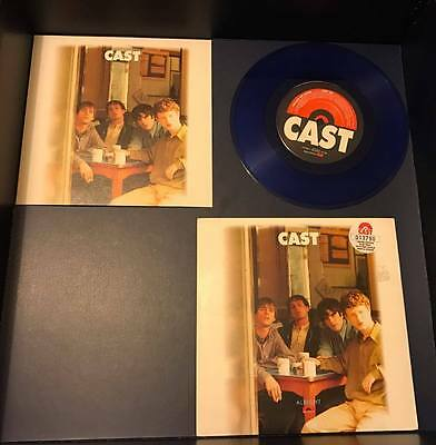 """Cast Alright Limited Edition Numbered Blue Vinyl 7"""" Very Rare Free Colour Print"""
