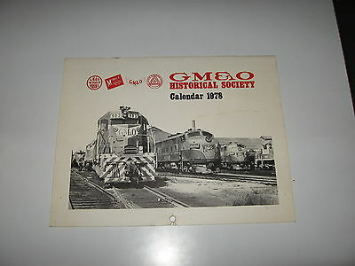 GM & O Historical Society Railroad Calendar for 1978 - Gulf Mobile and Ohio