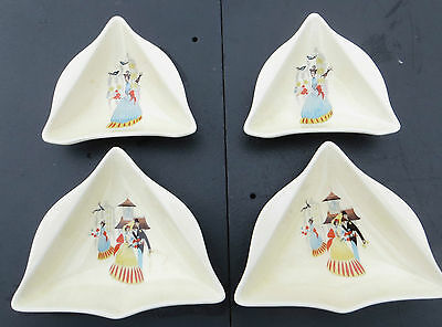 4 Small Beswick Happy Morn Dishes (possibly hor'deurves) 50s/60s