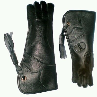 Eagle and Falconry Glove 4 Layers Nubuck Leather 16 Inches Long, Sizes Available
