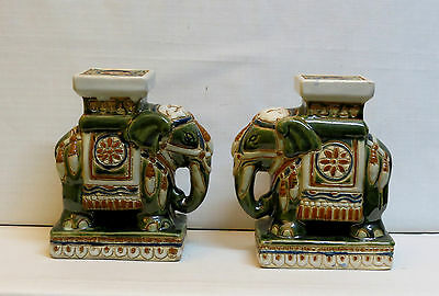Pair Of Chinese Terracotta Elephants