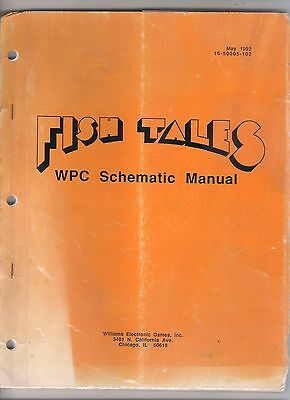 WPC CPU Schematic manual original FISH TALES by WILLIAMS