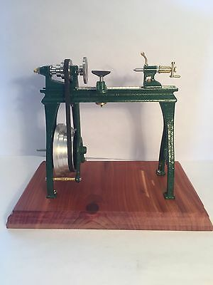 """Wood Workers Wood Lathe Hand Made Quality 1"""" Inch Scale Dollhouse Miniature"""