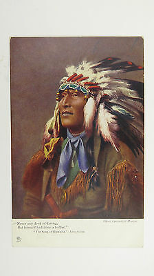 1900s Vintage Postcard Finnemore Native American Indian Sioux Warrior Chief