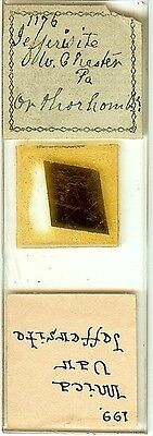 Jefferisite from West Chester Pennsylvania Petrographic Microscope Slide