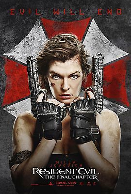 Resident Evil: The Final Chapter ( 2017 ) Movie Poster A0-A1-A2-A3-A4-A5-A6 1415