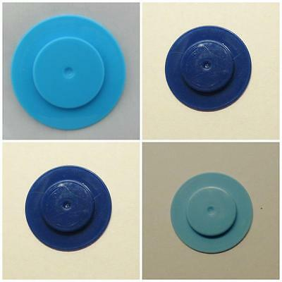 4 Sealing Disc stoppers reborn baby doll make no nipple bottles shades of blue