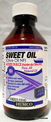 Humco Sweet Oil Ear Drops Ear Wax Olive Oil NF Pure Natural Oil  2019 Exp.