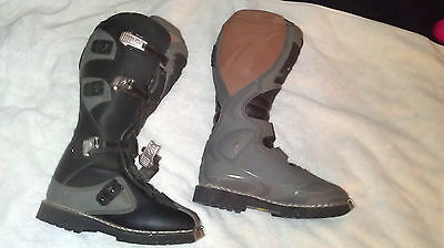 Thor Mx Boots Men's Size 8 Quadrant Gray & Black Motorcycle Or Atv Boots-Low$$$