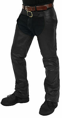 Mens Cowhide Leather Plain Chaps 1 Made in the USA