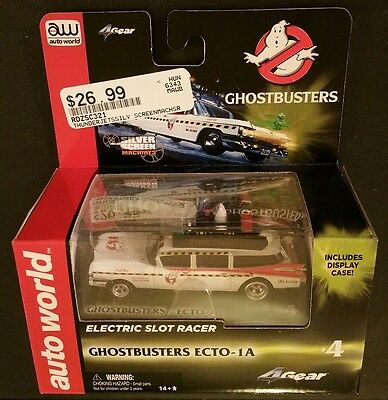AW 4Gear Ghostbusters Ecto 1A HO Slot Car SC321 AutoWorld ~fit AFX