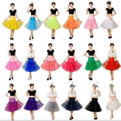 "*** Color Tulle Skirt 20"" knee length Crinoline Petticoat Tutu Dancewear Skirt"