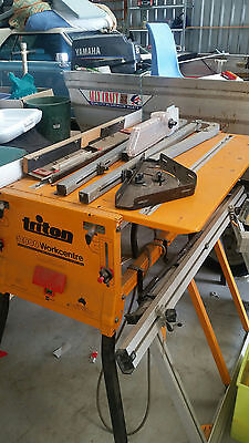 """Triton saw bench with all accessories including a 10"""" saw"""