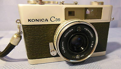 VINTAGE KONICA 35mm CAMERA W/HEXANON 38mm, 2.8 LENS 511404