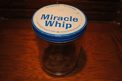 """Vintage Ball Mason Miracle Whip Jar With Lid Measure 7 """" Tall and 5"""" Wide"""