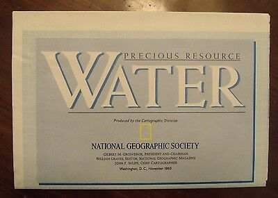 National Geographic MAP Of The United States Precious Resource Water Nov. 1993