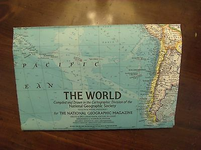 National Geographic MAP of the World  1970 How Man Pollutes The World