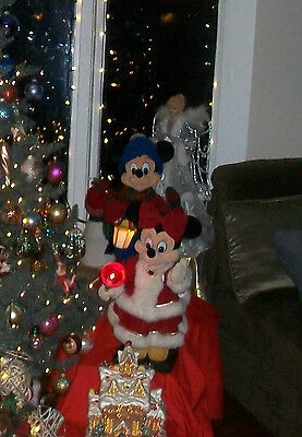 Disney Store Christmas Tree Topper Mickey and Minnie Lights Up ...