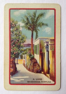 playing cards swap 1 x English Named . A Lane St. George's , Bermuda