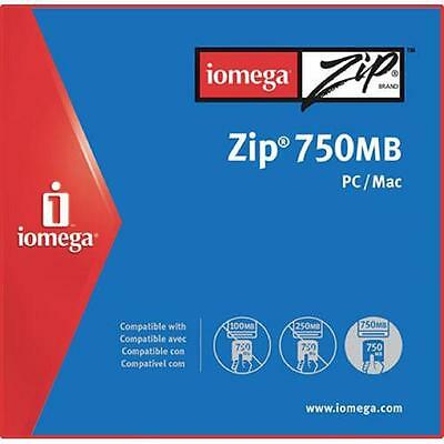 IOMEGA 750Mb ZIP Disk in Jewel Case for PC / MAC - NEW & SEALED....