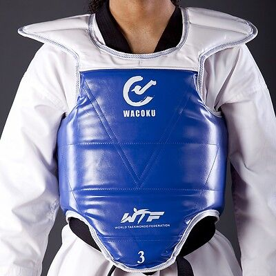WACOKU Reversible Chest Protector WTF Approved Taekwondo