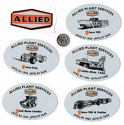 Bulk Australian Mining Related Stickers #76 Allied Plant Services
