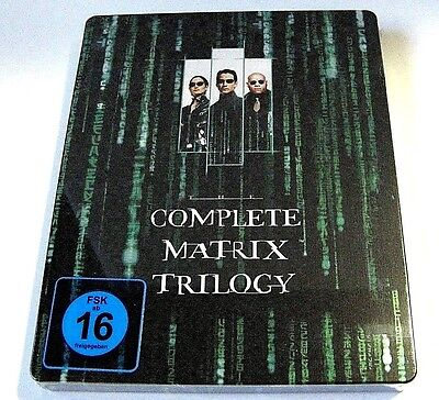 The Complete Matrix Trilogy 3 movies from Germany blu-ray steelbook.New,sealed