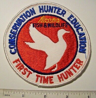"""Vintage Alberta Conservation Hunter Education """"First Time Hunter"""" Duck Patch"""