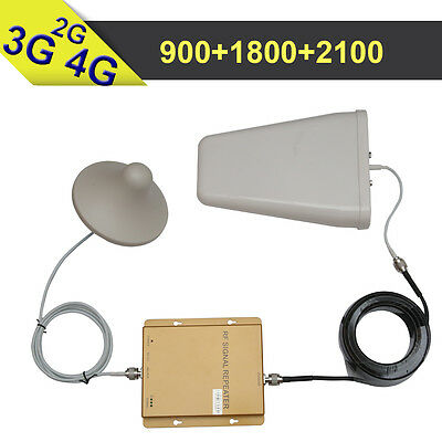 2G 3G 4G GSM 900 WCDMA 2100 LTE 1800 Tri Band Mobile Phone Signal Booster