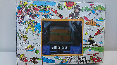VOLLEY BALL 1980's VINTAGE POCKET / HAND HELD LCD GAME - & WATCH -