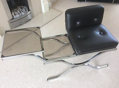 Retro / Vintage Chrome And Glass Telephone/hall Table