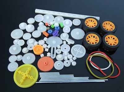 78 kinds gear packages Toy car accessories Motor gear shaft Belt bushings DIY