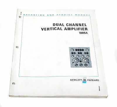 Manual Hewlett Packard HP 1805A Vertical Amplifier, Operation & Service