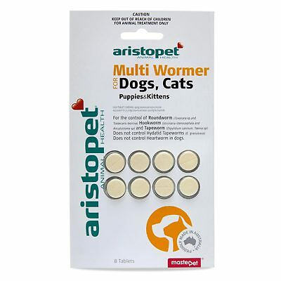 Aristopet Multi Wormer Dogs Cats Puppies Kittens 8 Pack Worming