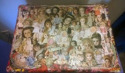Shabby Chic Decoupage Metal Doll Chest