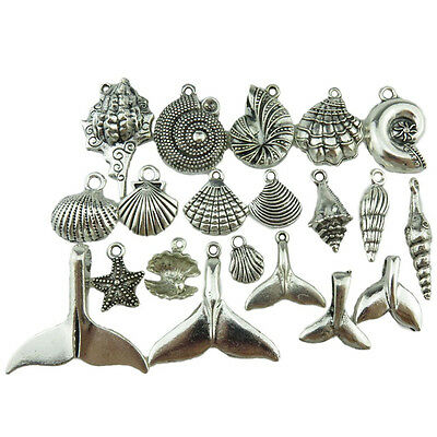 20 pcs а Lot Whale Tail Starfish Shell Necklace Maori Hawaii Surf Diving Pendant
