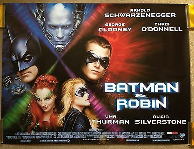 BATMAN & ROBIN (1997) Original UK Quad Movie Poster Schwarzenegger Clooney