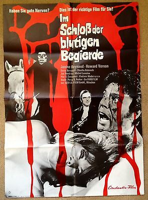 IN THE CASTLE OF BLOODY LUST (1968) Rare Original German Horror Movie Poster