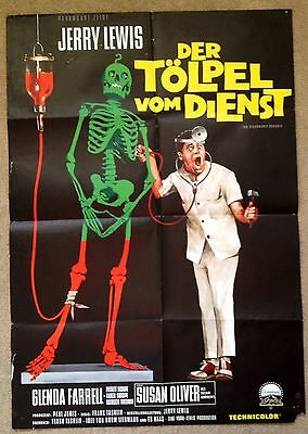 THE DISORDERLY ORDERLY (1964) Rare Original German Movie Poster Jerry Lewis
