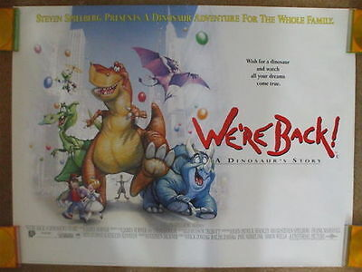 WE'RE BACK.. A DINOSAURS TALE (1993) Original UK Quad Movie Poster Drew Struzan
