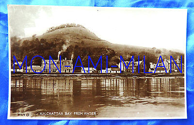 KILCHATTAN BAY FROM WATER ISLE of BUTE 1900s RP POSTCARD Buildings Chimneys