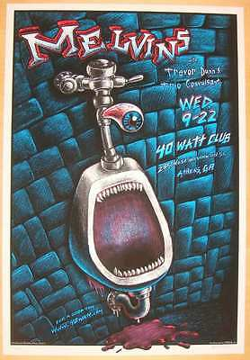 2004 The Melvins - Athens Silkscreen Concert Poster by EMEK s/n