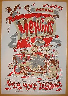 2004 The Melvins - San Diego - Silkscreen Concert Poster s/n Guy Burwell