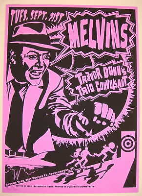 2004 The Melvins - Spartanburg Silkscreen Concert Poster s/n by 8ball