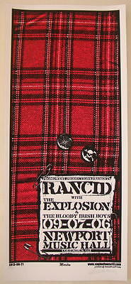 2006 Rancid w/ the Explosions - Columbus Silkscreen Concert Poster S/N Martin